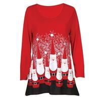 Women's Ultimate Santa Jersey Tunic Top - 3/4 Sleeve Long Shirt