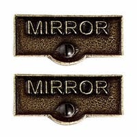 2 Switch Plate Tags MIRROR Name Signs Labels Cast Brass