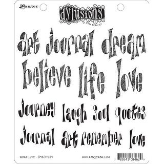"""Dyan Reaveley's Dylusions Cling Stamp Collections 8.5""""X7""""-Word Love"""