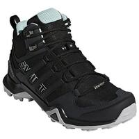adidas Women's Terrex Swift R2 Mid GORE-TEX Hiking Shoe Black/Black/Ash Green
