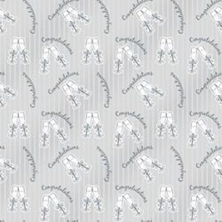 """Congratulations Bubbly - Printed Gift Wrap 5'X30"""" Roll"""
