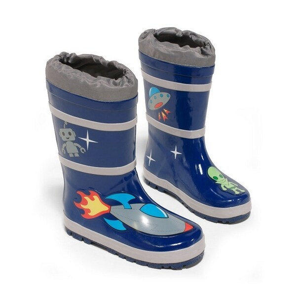 Space Hero Print Rubber Rain Boots