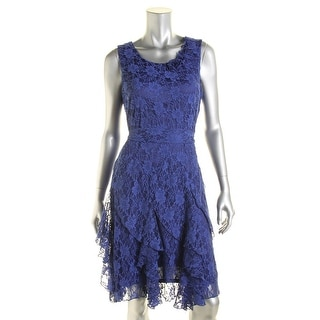 Signature By Robbie Bee Womens Petites Lace Sleeveless Party Dress - 8P