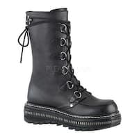 Demonia Women's Lilith 270 D-Ring Lace-Up Boot Black Vegan Leather