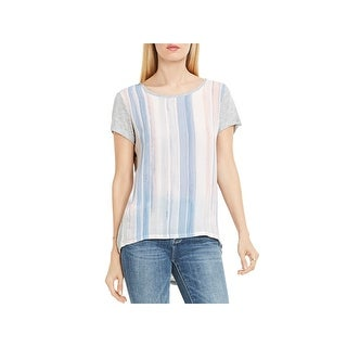Two by Vince Camuto Womens Blouse Striped Cap Sleeves (2 options available)