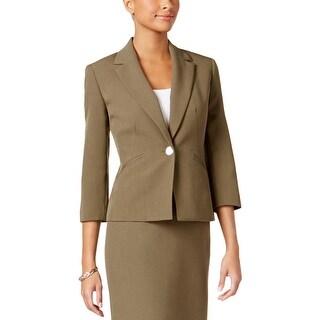 Kasper Womens Petites One-Button Blazer Notch Lapel Office Wear - 4P