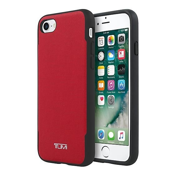 TUMI Coated Canvas Co-Mold Case for iPhone 7 - Coated Canvas Red