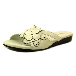 Rose Petals by Walking Cradles Fiji N/S Open Toe Leather Slides Sandal