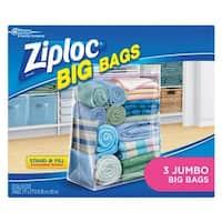 "Ziploc 65645 Jumbo Storage Bag, 2' x 2' x 8"", XXL"