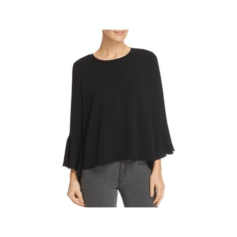 Vince Camuto Womens Blouse Cascade Bell Sleeve