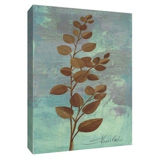 "PTM Images 9-154233  PTM Canvas Collection 10"" x 8"" - ""Branches on Blue I"" Giclee Branches Art Print on Canvas"