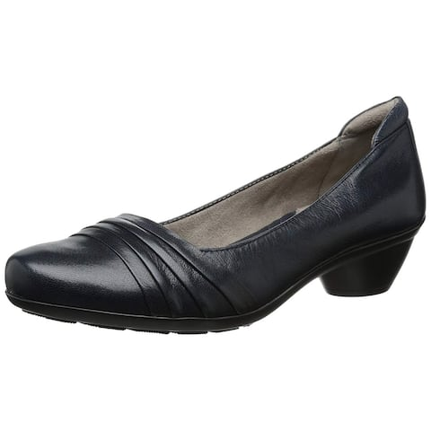 Naturalizer Womens Halona Leather Closed Toe Classic Pumps