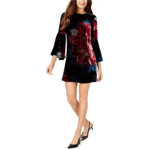 Trina Turk Womens Velvet Shift Dress