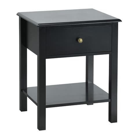 Modern End Table Nightstand with Storage Drawer