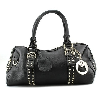 MG Collection Lucky Women Leather Black Satchel