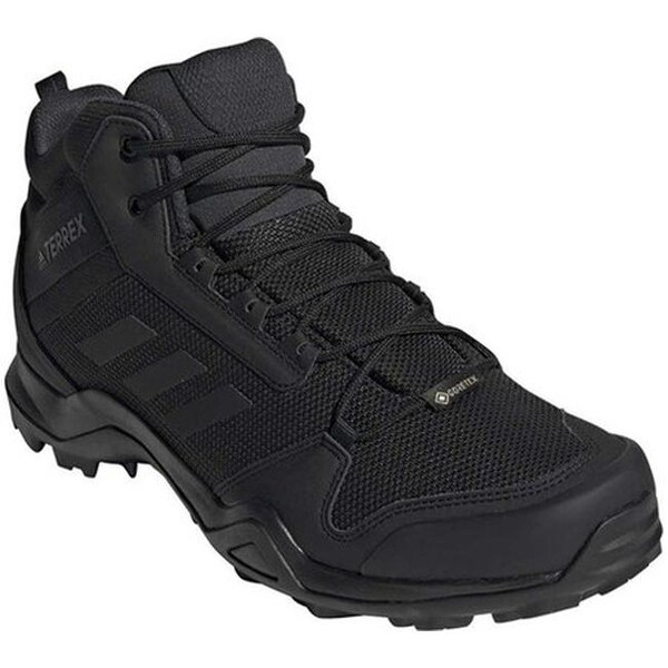 Shop adidas Men's Terrex AX3 Mid GORE-TEX Hiking Shoe Black ...