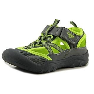 Osh Kosh Hax-B Toddler Round Toe Canvas Gray Sport Sandal
