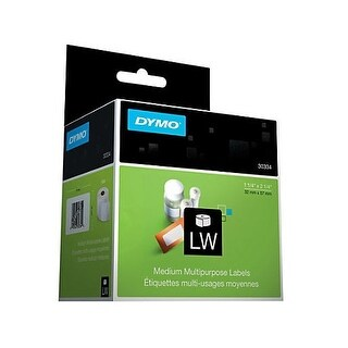 Dymo - White 2-1/4In X 1-1/4In Labels. Size: 2-1/4In X 1-1/4In, 1000 Labels/Roll, 1 Rol