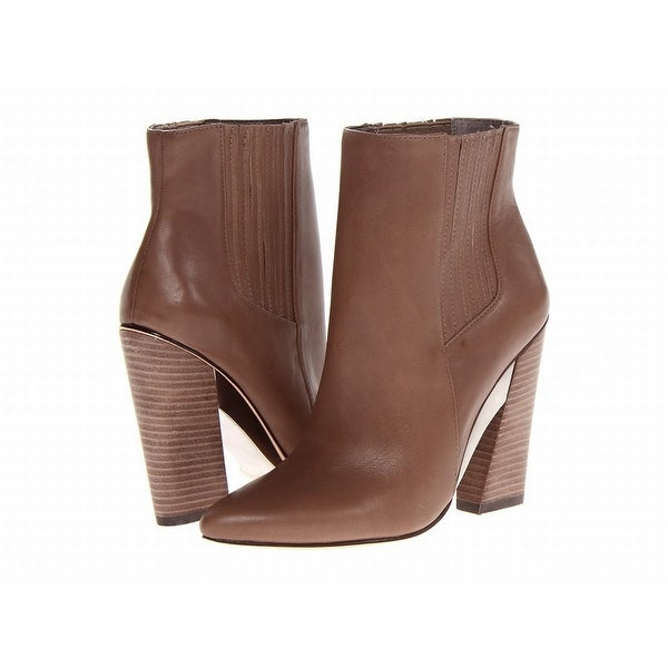 BCBGMaxazria NEW Brown Shoes Size 9.5M Ankle Leather Boots