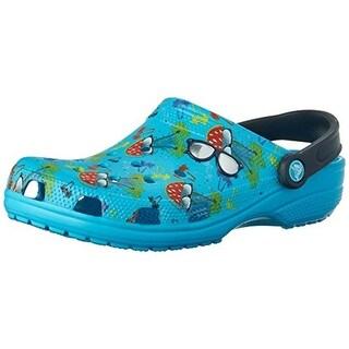 Crocs Mens Summer Fun Printed Heel Strap Clogs
