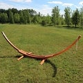 Sunnydaze Wooden Curved Arc Hammock & Hammock Stand, 13 Feet Long, 400 Pound Capacity - Thumbnail 1
