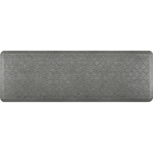 "WellnessMats Estates Trellis Anti-Fatigue Mat, Silver Leaf, 72"" by 24"""