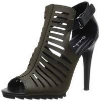 Qupid Womens Liya Peep Toe Special Occasion Slingback Sandals