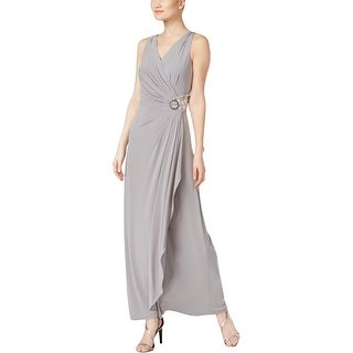 Calvin Klein Womens Evening Dress Embellished Pleated - 10