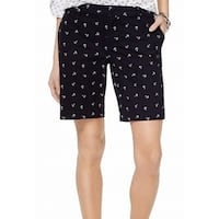 Tommy Hilfiger Navy Blue Womens Size 2 Bermuda Walking Shorts