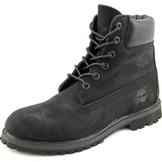 Timberland 6In Premium Women  Round Toe Leather Black Boot