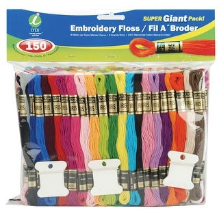 Embroidery Floss Super Giant Pack 8.7yd 150/Pkg-Assorted Col