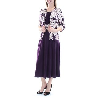 JESSICA HOWARD $99 Womens New 1165 Purple Floral W/ Jacket Dress 6 B+B