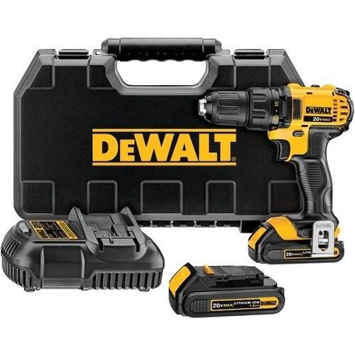 """""""DeWALT DCD780C2B 20V MAX Lithium Ion Compact Drill And Driver Kit DEWALT DCD780C2 20-Volt Max Li-Ion Compact 1.5 Ah"""