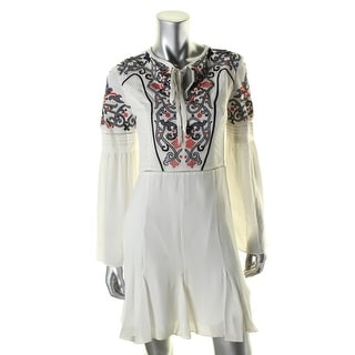Parker Womens Milly Casual Dress Silk Embroidered - s