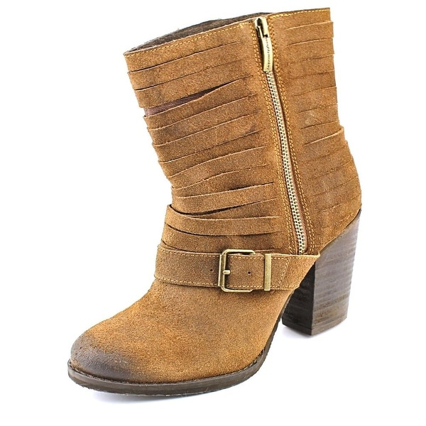 Naughty Monkey Do Re Mi Women Round Toe Leather Brown Ankle Boot
