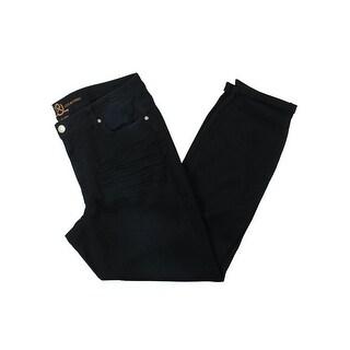 Love & Legend Womens Skinny Jeans Dark Wash Creases