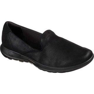 97ace27a0 Shop Skechers Women s GOwalk Lite Skimmer Black Black - On Sale ...