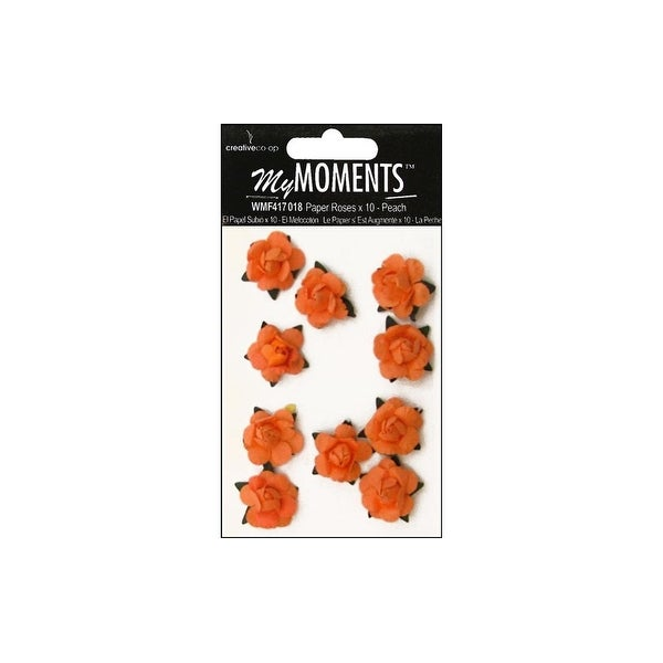 My Moments Embell Flowers Paper Mini Roses Peach
