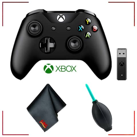 Microsoft Xbox Wireless Controller + Adapter for Windows 10 and Accessories