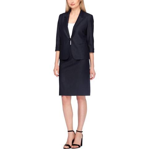 Tahari ASL Womens Skirt Suit Collared Professional