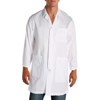 Natural Uniforms Mens Lab Coat Twill Button Front - M