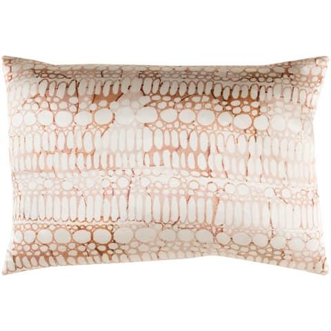 "Decorative Suresnes Orange 13"" x 19"" Throw Pillow Cover"