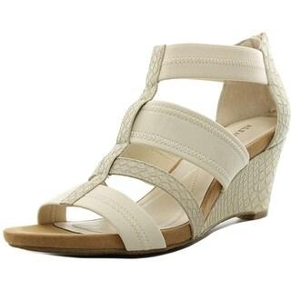 Alfani Mavenn Women Open Toe Synthetic Ivory Wedge Sandal