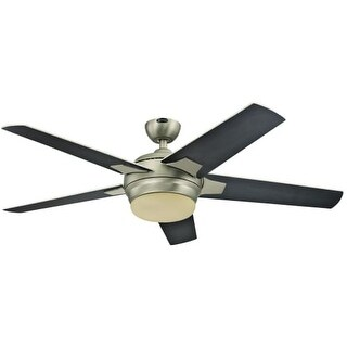 "Westinghouse 7204000 Bolton 52"" 5 Blade Hanging Ceiling Fan with Reversible Motor, Blades, LED Light Kit, and Remote Control"