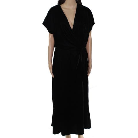 Lauren by Ralph Lauren Women's Dress Deep Black Size 16 Shift Velvet