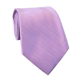 Calvin Klein Steel Mens Tonal Striped Classic Silk Necktie Pink - One Size Fits most
