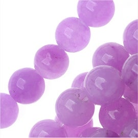 Light Purple Candy Jade 6mm Round Beads (15.5 Inch Strand)