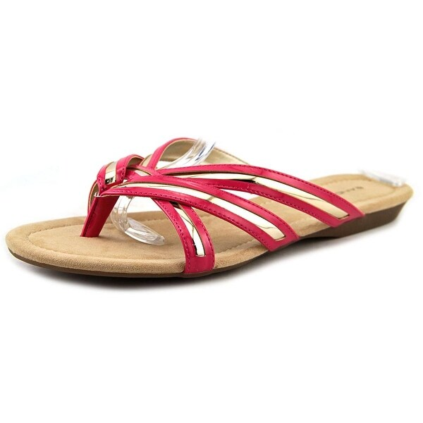 Bandolino Naccari Women Open Toe Synthetic Pink Thong Sandal