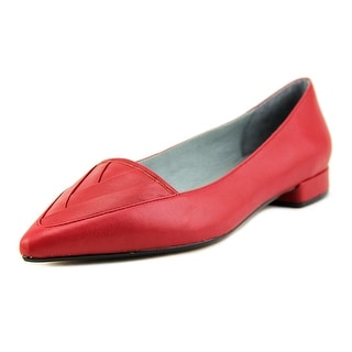 Nina Zelima Women Pointed Toe Leather Red Flats