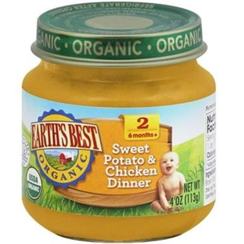 Earth's Best - Organic Sweet Potato & Chicken Dinner ( 12 - 4 OZ)